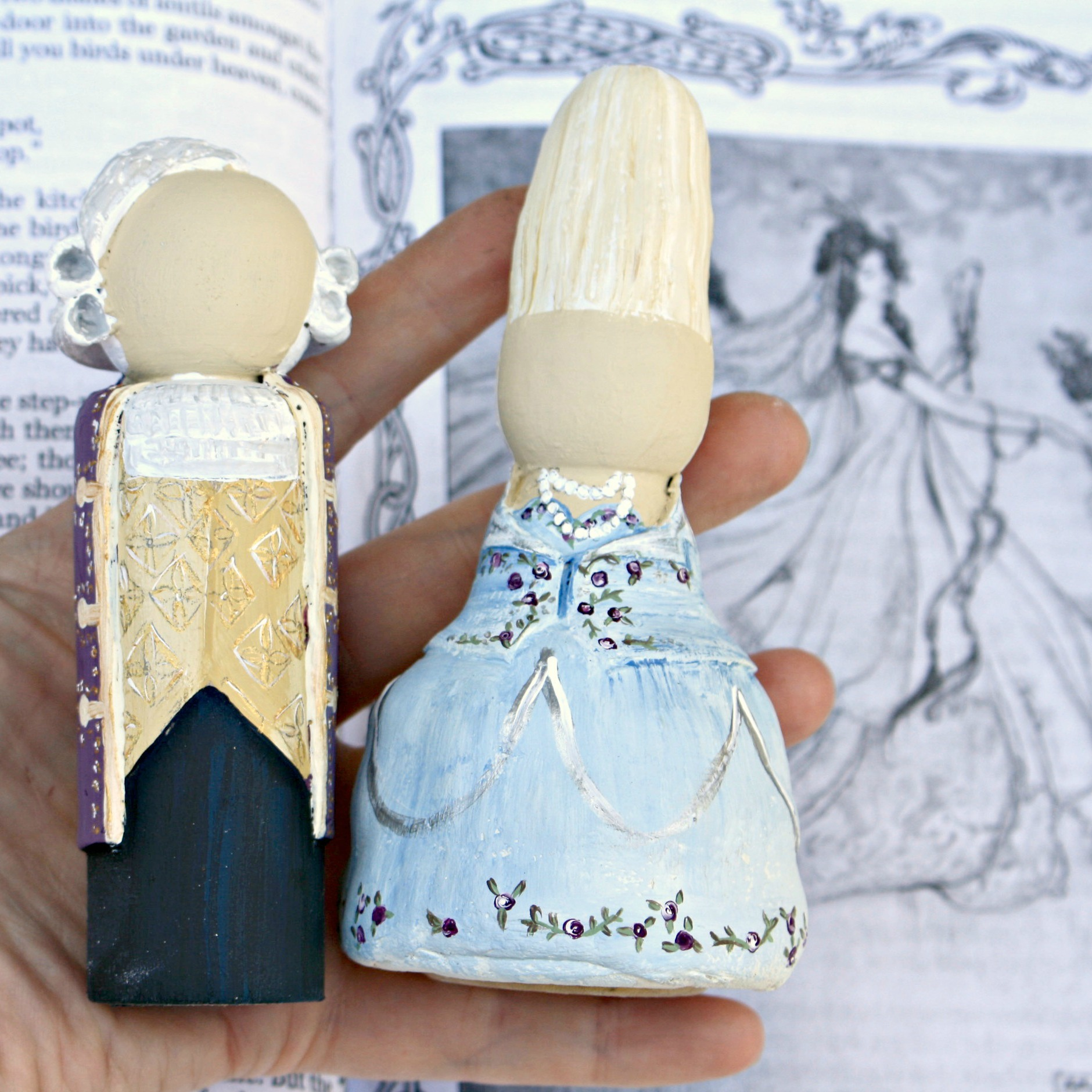 cinderella wedding cake topper uk cinderella inspired peg doll wedding cake topper lotty 12867